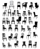 Set of antique furniture vector illustration Stock Photo