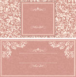 Set of antique greeting cards. Royalty Free Stock Photography