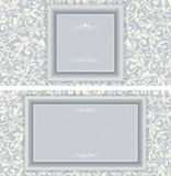 Set of antique greeting cards. Royalty Free Stock Images