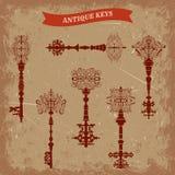 Set of antique keys. Stock Image