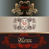 Set of antique menu Royalty Free Stock Photos