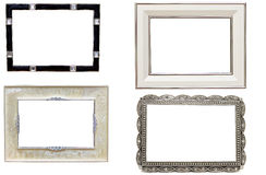 Set of antique metal picture and photo frames. With space for text Royalty Free Stock Photos