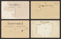 Set of Antique postcards Stock Photography