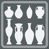 Set of antique vases Royalty Free Stock Photography