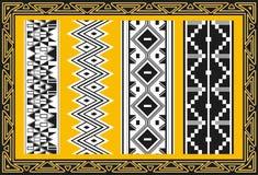 Set antyczni amerykańsko-indiański wzory Fotografia Royalty Free