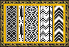 Set antyczni amerykańsko-indiański wzory Obrazy Stock