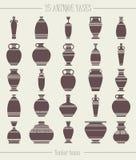 Set 25 antykwarskich waz ilustracja wektor