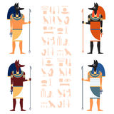 Set of Anubis Royalty Free Stock Photography
