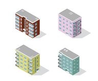 Set of apartment buildings Stock Photography