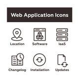 Set aplikacj sieciowych ikony Obrazy Royalty Free