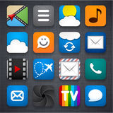 Set of app icons. Royalty Free Stock Photos