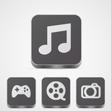 Set of app icons Stock Photography