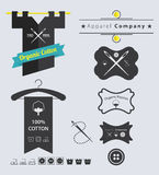 Set of  Apparel  Retro Labels and Badge Royalty Free Stock Images