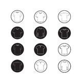 Set of Apparel shirt and T-shirt Icon Clothing icons Stock Photography