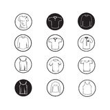 Set of Apparel shirt and T-shirt Icon Clothing icons Stock Image