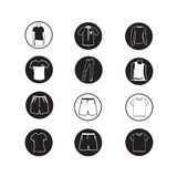 Set of Apparel shirt and T-shirt Icon Clothing icons Stock Images