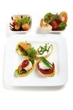 Set of appetizer / Antipasti Royalty Free Stock Photos
