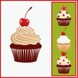 Set of appetizing cakes. Royalty Free Stock Images