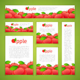 Set of Apple Banners Royalty Free Stock Photos