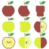 Set of Apple Icons Royalty Free Stock Photo