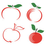 Set of Apple Icons Royalty Free Stock Photos