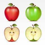Set of apples Royalty Free Stock Photography