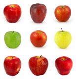 Set of apples isolated on white Royalty Free Stock Photos