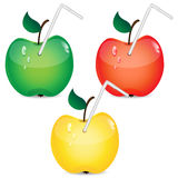 Set of apples Royalty Free Stock Images