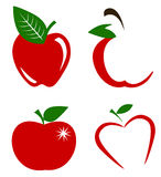 Set of apples vector Royalty Free Stock Photo