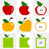 Set of apples vector Stock Image