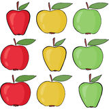 Set of apples vector. Royalty Free Stock Images