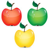 Set of apples Stock Images