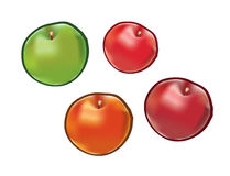 Set of apples  on white background. Royalty Free Stock Photography