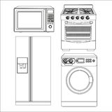 Set of appliances Royalty Free Stock Photo