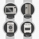 Set of Appliances Royalty Free Stock Images