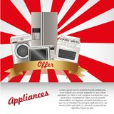 Set of Appliances Stock Photography