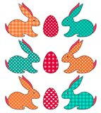 Set of application Easter rabbits Stock Photography