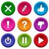 Set of application icon, menu icons. Vector illustration royalty free illustration