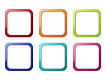 Set of apps icons Royalty Free Stock Image