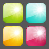 Set of apps icons Royalty Free Stock Photos