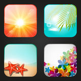 Set of apps icons Stock Photos