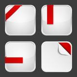 Set of apps icons Royalty Free Stock Images