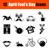 Set of April Fool's day icons Royalty Free Stock Images