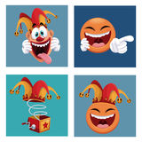 Set april fools day icons. Illustration eps 10 Royalty Free Stock Photo