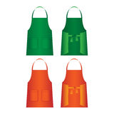 Set of aprons isolated. Uniform part for several work categories Royalty Free Stock Image