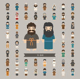 Set of arab characters poses Stock Photography