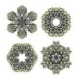 Set arabeskowy ornament dla twój projekta Obrazy Stock
