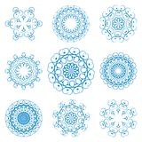 Set of arabesque. Set of abstract decorative circular patterns Stock Photography