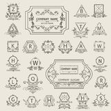 Set arabesque logos emblem, ornamental Stock Photography