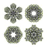Set of arabesque ornament for your design Stock Images